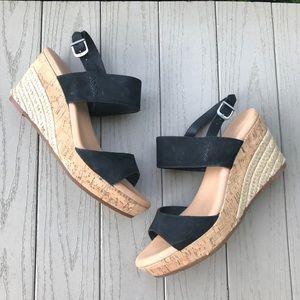 Ugg Suede Espadrille Wedge Sandal Heels